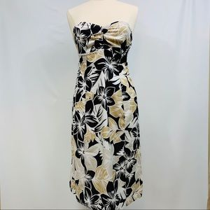 Esprit Strapless Tropical Floral Pattern Dress 6